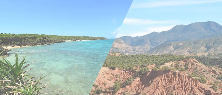 海と山イメージ