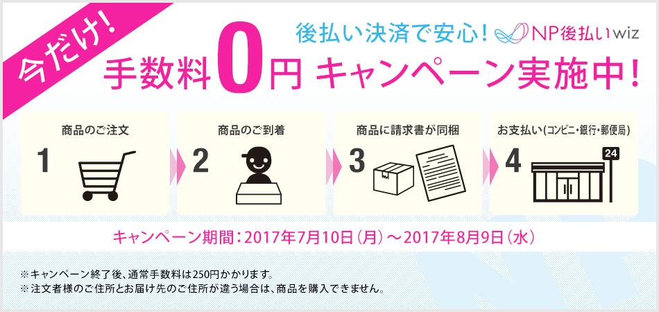 今だけ!NP払い手数料0円キャンペーン実施中!