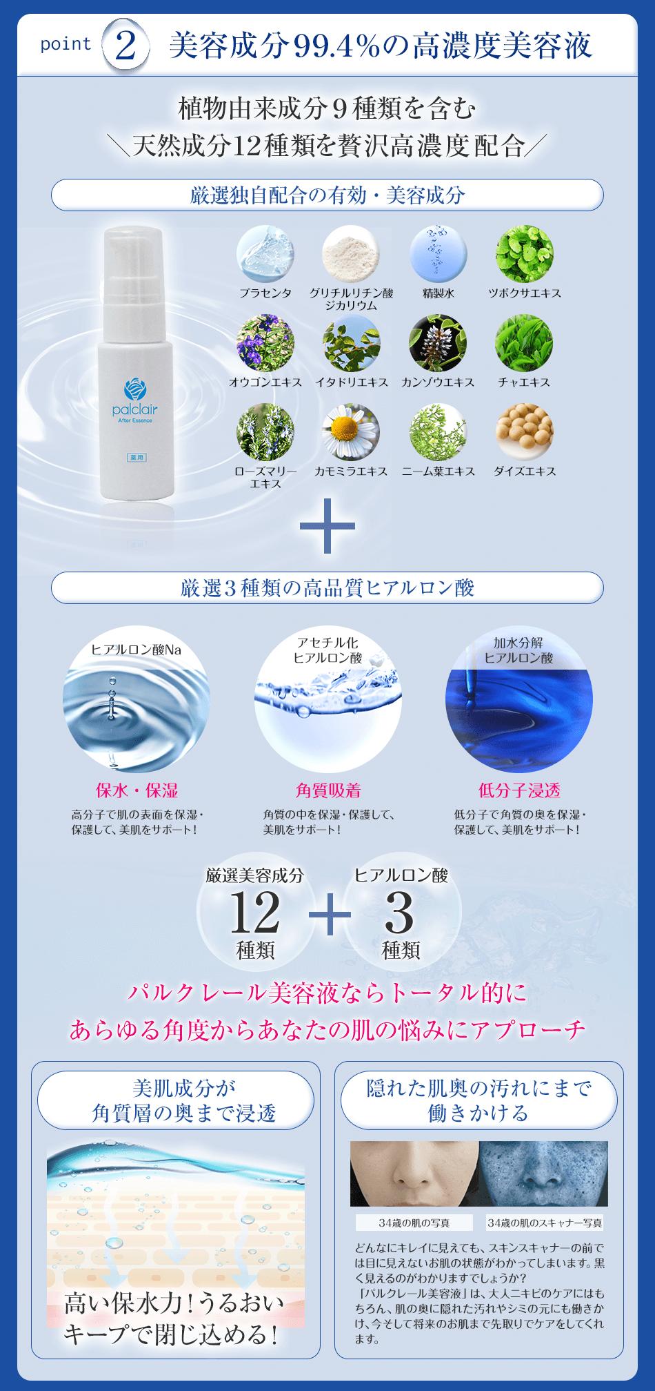美容成分99.4%の高濃度美容液
